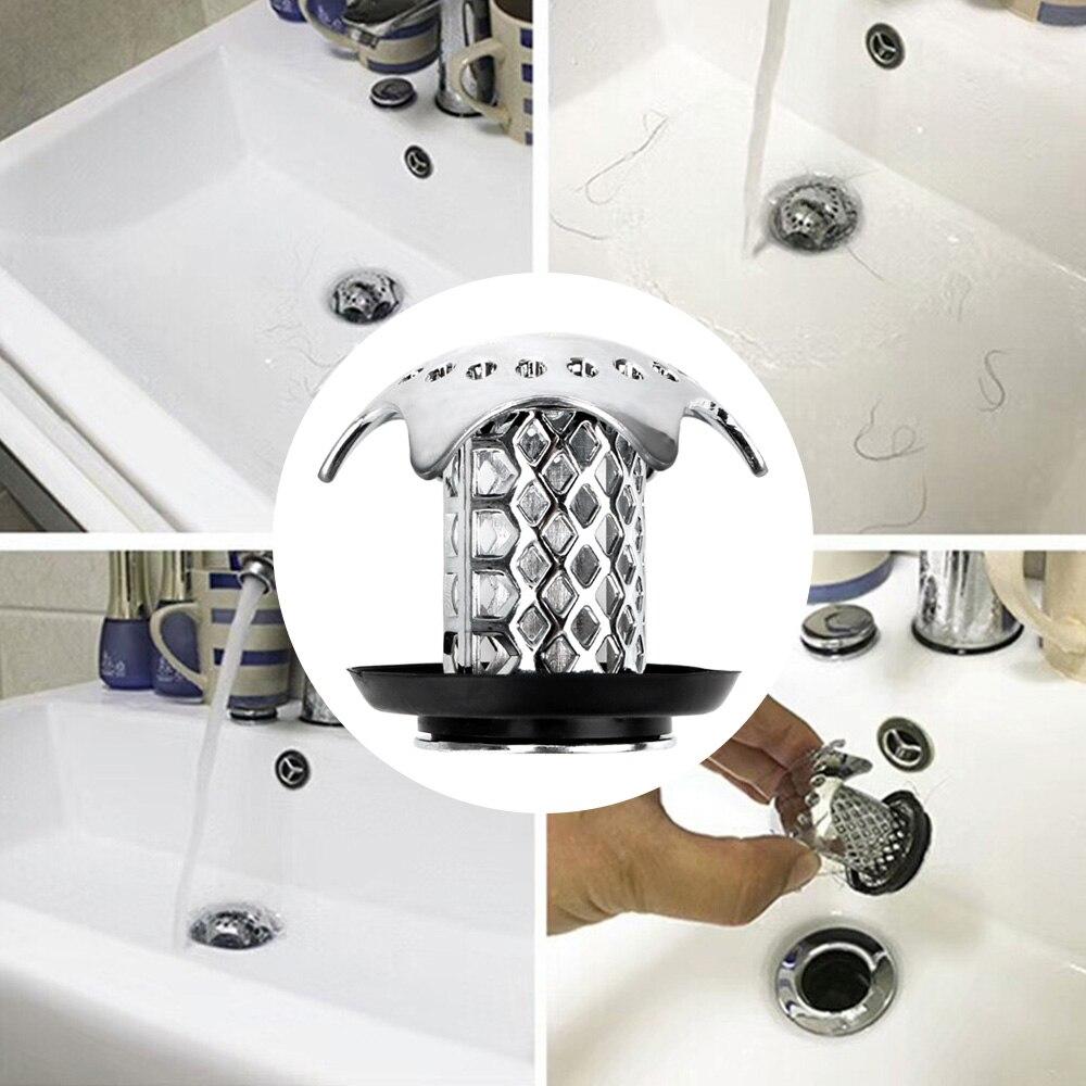 Chuveiro de drenagem de cabelo catcher pia do chuveiro dreno capa gadgets impede o cabelo de entupimento pia filtro banho plug acessórios do banheiro