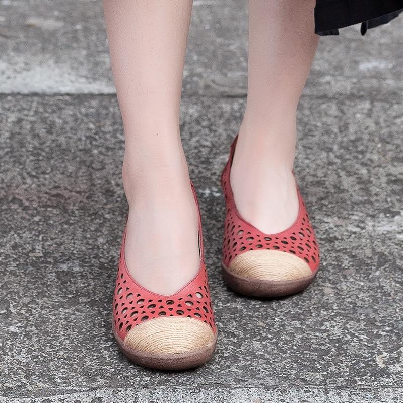 Chaussures Mocassins Printemps Évider Été Cm Femelle Oxfords Véritable De 3 Pompes Faible Femmes Talons En Rouge chocolat Cuir ffrwXq