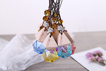 Colorful Glass Refillable Car Fragrance Perfume Air Freshener Hanging Bottles Car Perfume Empty Bottles BY DHL