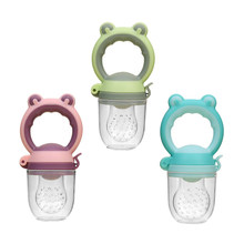 Baby Fresh Food Fruit Vegetable Mills Dispenser Baby Cartoon Pacifier Nipple Feeder Baby Food Masher Care Safety Tool BPA Free(China)