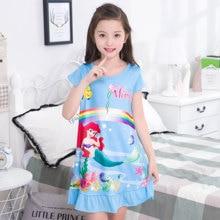 69636329b9d87 Fille chemise de nuit pyjama bébé Coton Princesse chemise de Nuit Enfants  Accueil robe Robes D été grande Fille de Nuit Enfants .