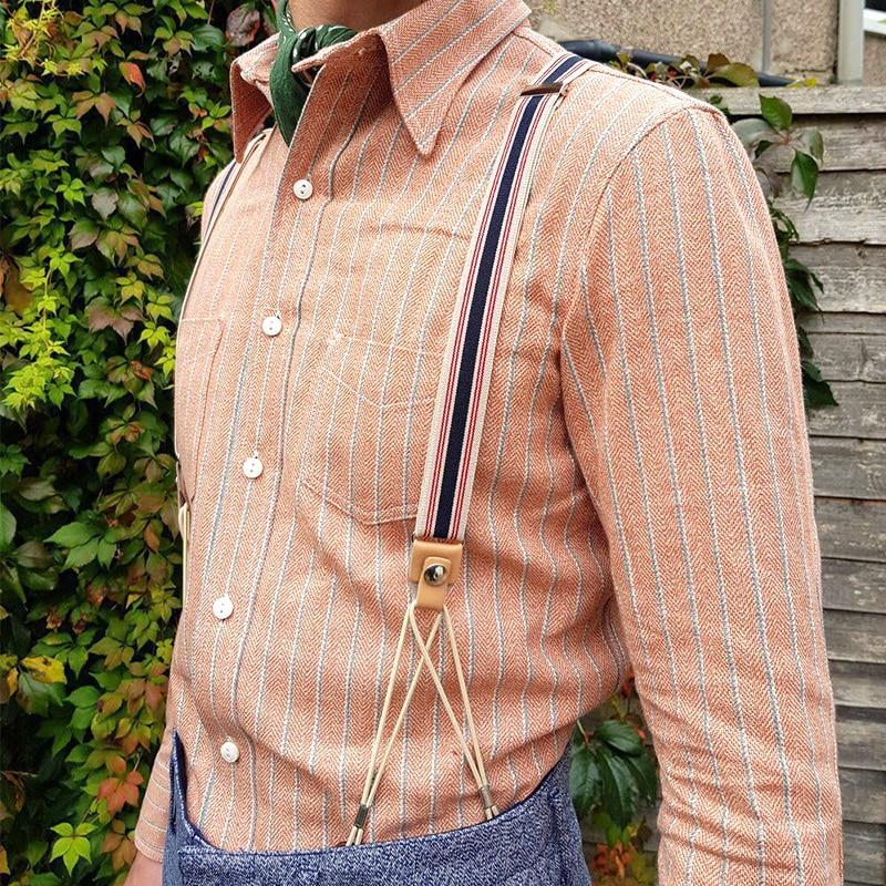 NEW Gentleman Retro Suspenders Trousers Sling Elastic Suspender For Men Pants Button Type Strap Skirt Vintage Suspender