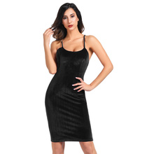 party office evening Sexy Women s Spaghetti Straps dresses retro solid  classy Hips-wrapped Bodycon backless 9d8141fe4580