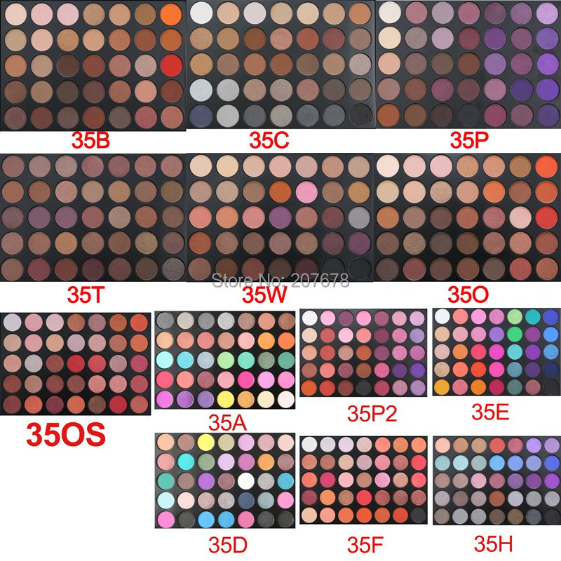 35 Colors eyeshadow pallete Glitter Makeup Matte Eye shadow Long-lasting make up palette maquillage paleta de sombra Eyeshadow