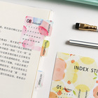 2 Sheet Date Index Stickers Colorful Fruits Adhesive Paper Label Stickers Scrapbooking Diary Diy Albums Decorations Papeterie