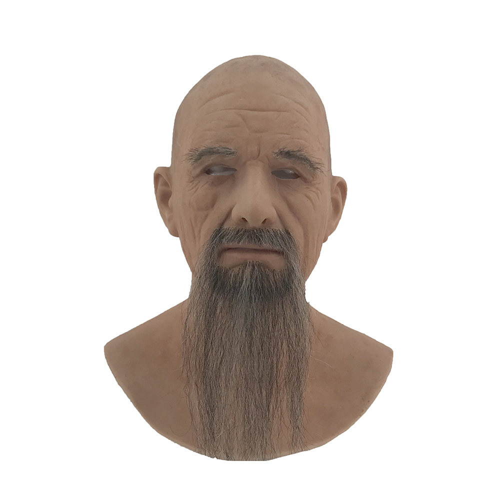 silicone man face disguise realistic makeup silicone old man mask for sale