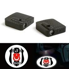 цена на Car Fit For  Besiktas JK Football Club LED Logo Door Ghost Shadow Laser Projector Light 12V