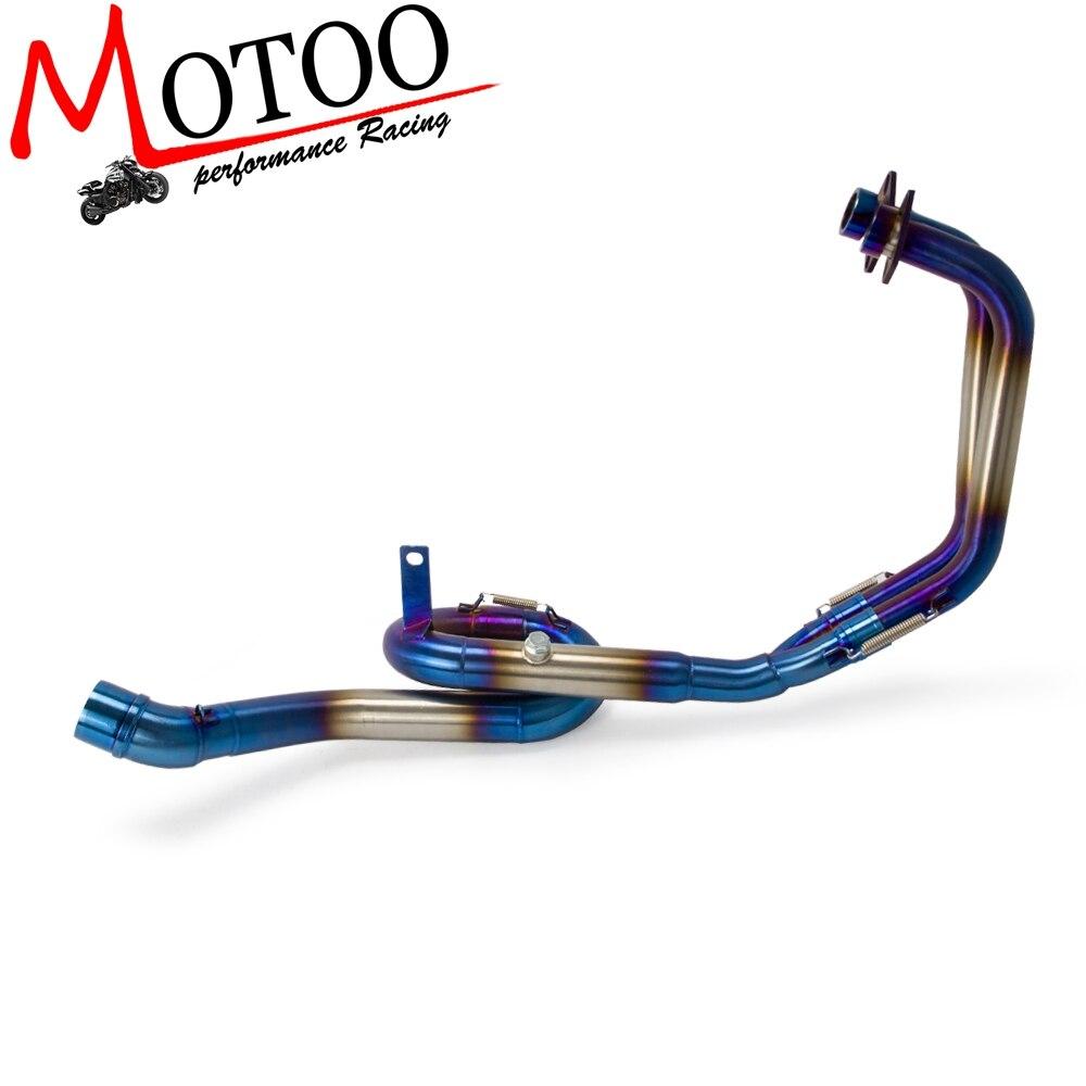 Front-Loop-Pipe Exhaust-System-Header MT03 SLIP-ON YAMAHA Muffler Motorcycle Blue