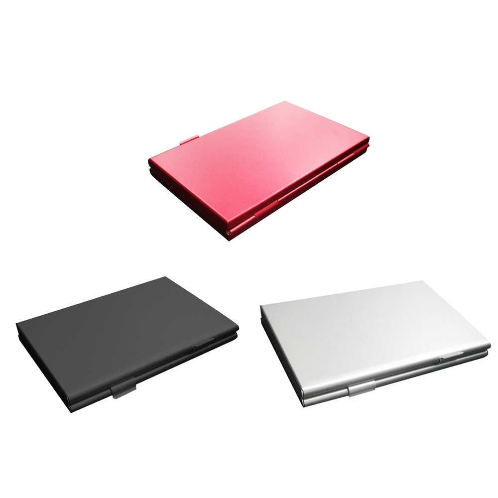 Boîte de rangement étui pour cartes SD MMC TF carte mémoire boîte de rangement en alliage d'aluminium EVA Micro argent nouveau 6 carte SD