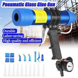 Pistolas selladoras neumáticas 310ml válvulas de aire salchichas de silicona herramienta de calafateo boquilla de goma de vidrio herramientas de construcción de lechada