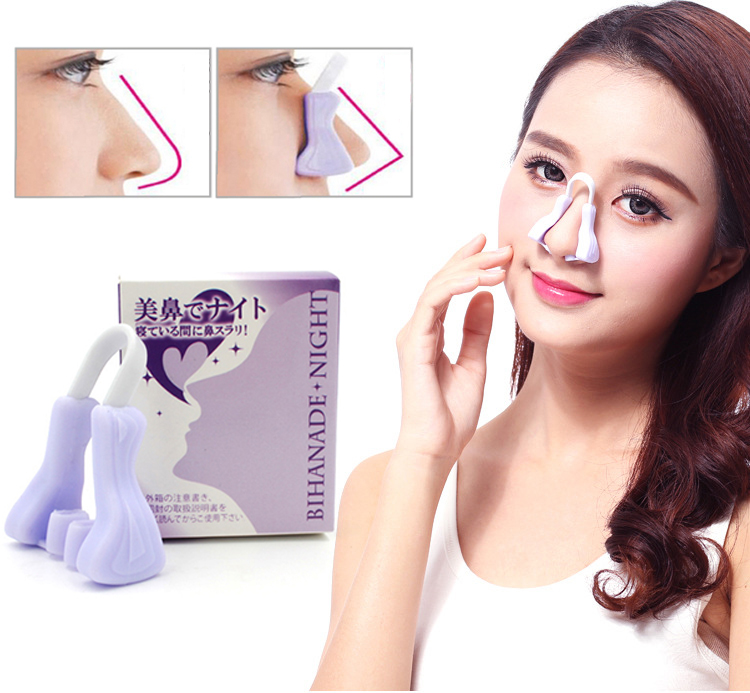 Magic Nose Shaping Shaper Lifting Bridge Silicone Nose Clips Straightening Beauty Clip Face Lift Nose Up Facial Clipper Tool