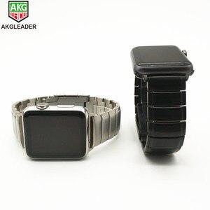 Image 4 - AKGLEADERใหม่ล่าสุดโลหะสแตนเลสสำหรับApple Watch Series 4 3 2 1 IWatchคุณภาพสูงแถบ