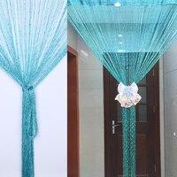 String Quaste Hängen Vorhang Teiler Wohnzimmer dekoriert mit Silber Verschlüsselung Tüll Fenster Vorhänge Tür Fenster Decor15