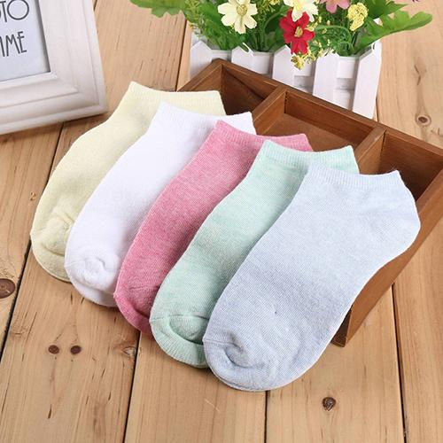 1Pair Fashion Candy Color Women Short Ankle Boat Low Cut Sport Socks Crew Casual