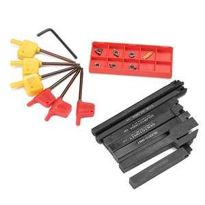 Image 2 - 21 יח\סט 10mm בעל כלי משעמם בר + DCMT CCMT קרביד הכנס עם 7pcs ברגים עבור מחרטה מפנה כלים