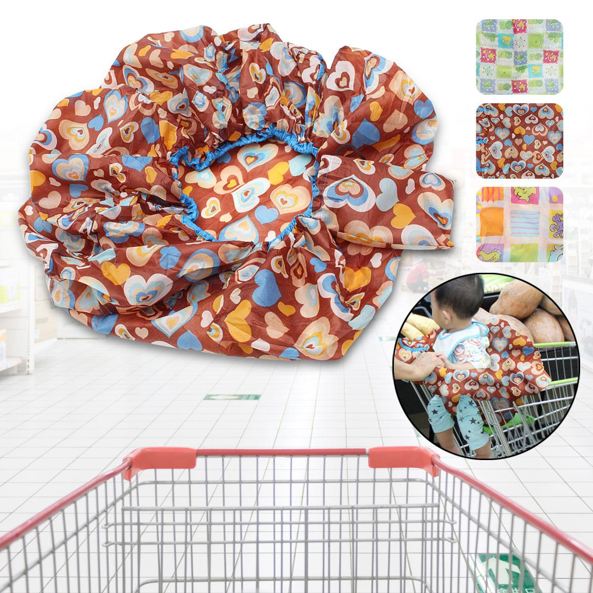 Polyester Fabric Kids Toddler Supermarket Shopping Cart Cover Antidirty High Cha