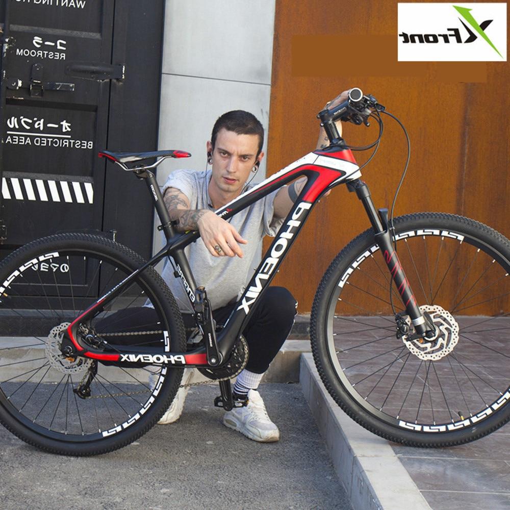 Nouvelle marque VTT cadre en Fiber de carbone 27.5 pouces roue frein à disque hydraulique M370/m610 Shift 27/30 vitesse vtt vélo