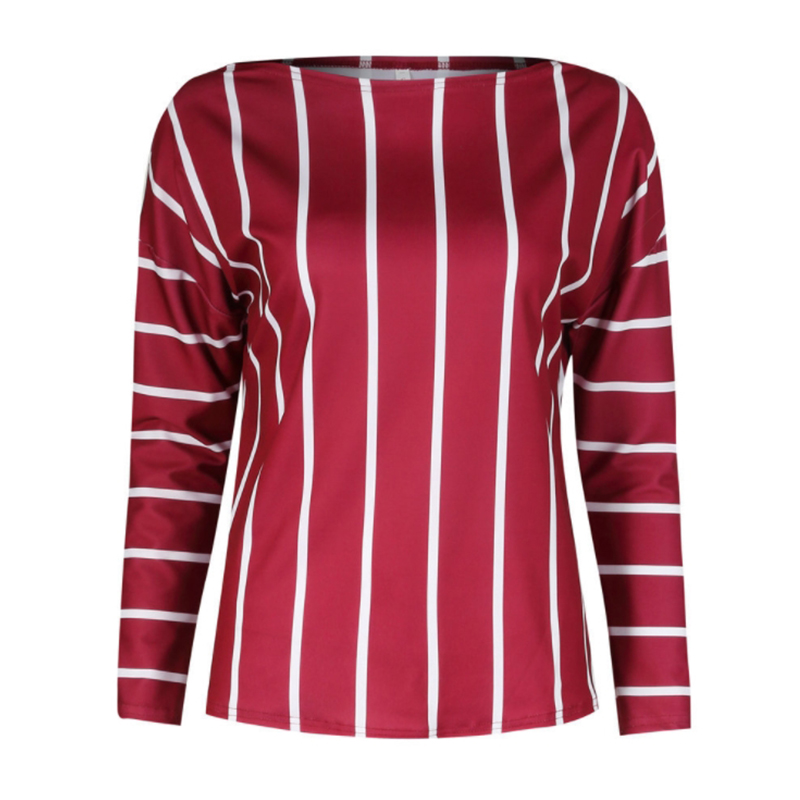 Fashion 2018 Autumn Women Striped Blouse Modern Lady Shirt Sexy Off Shoulder 3/4 Sleeve Work Shirts Casual Top Blusas Femininas