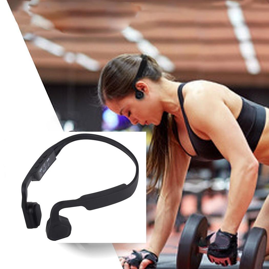 Oreillettes à Conduction osseuse écouteurs mains libres Bluetooth Sport 4.0 environ 6 heures sans fil environ 5 heures casque