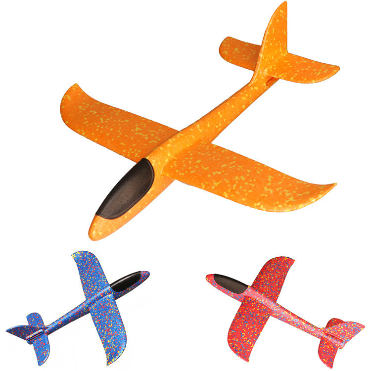 Purcoco Aircraft Model Children 2019 New Baby Toy Plane Assembled Big Size Hands Throwing Foam Airplane Stunt Model Glider