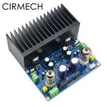 CIRMECH HIFI หลอดสูญญากาศเครื่องขยายเสียงอิเล็กทรอนิกส์วาล์วเครื่องขยายเสียง 6J1 + LM1875 เครื่องขยายเสียง ac18v diy ชุดและสำเร็จรูปผลิตภัณฑ์