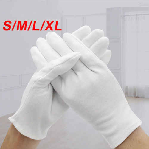 6Pair white labor insurance thick cotton work cotton cloth thin medium and thick etiquette wenwan quality inspection gloves