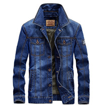 2019 New Brand clothing Spring Winter denim jacket men fashion streetwear jeans High quality cotton
