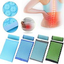 купить Hot Acupressure Massager Mat Cushion Relieve Relaxation Body Foot Back Stress Pain Spike Mat Acupressure Yoga Mat with Pillow по цене 317.84 рублей