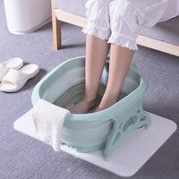 Roller Folding Foot Bath Portable Household Foot Bath Barrel Travel Footbath Can Massage Soaking Basin Bath Supplies