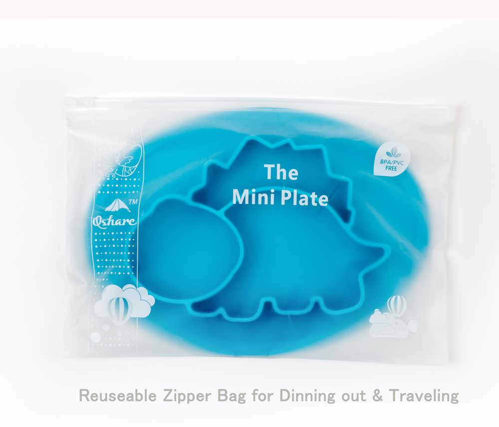 Qshare pratos do bebê silicone infantil tigelas placa utensílios de mesa crianças comida titular bandeja crianças recipiente de alimentos placemat para alimentação do bebê