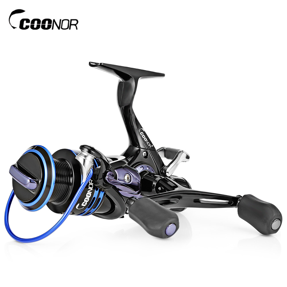 COONOR J12 9 + 1BB Spinning Angeln Reel 5,1: 1 links/Rechts Spinning Reel Metall Spool Angeln Reel Mit Doppel T-Form Griffe