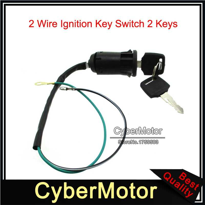 2 Wire Ignition Key Switch For 2 Stroke 47cc 49cc Mini Dirt Pocket Bike ATV  Quad Go Kart Minimoto