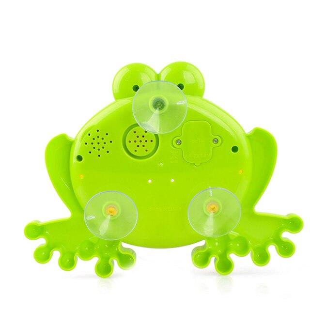 Baby Bath Bubble Machine  Bathroom Accessories Sets Big Frogs Automatic Bubble Maker Blower Music Maker Bathtub Soap Machine 3