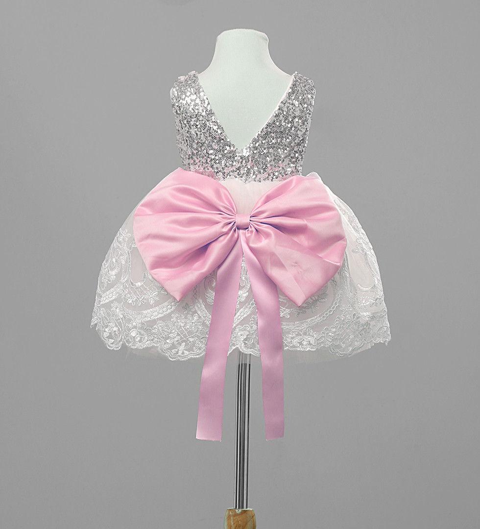 Baby Kids Girls Formal Sleeveless Wedding Bridesmaids Princess Bow Party Dress