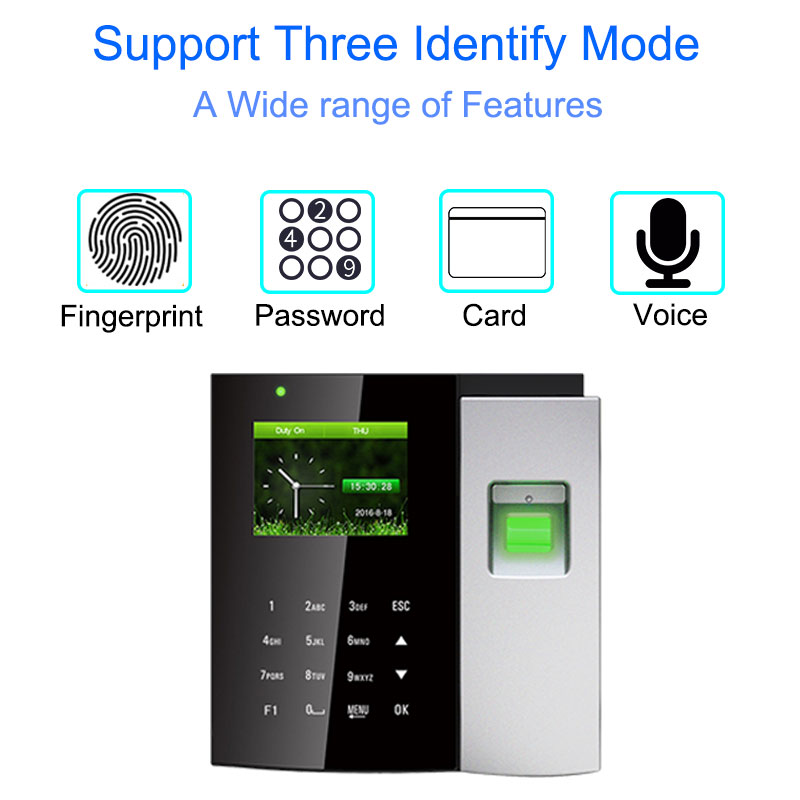 Time Attendance System Biometric Reader TCP/IP USB Fingerprint Access Control Clock Employee Device Office Attendance Machine