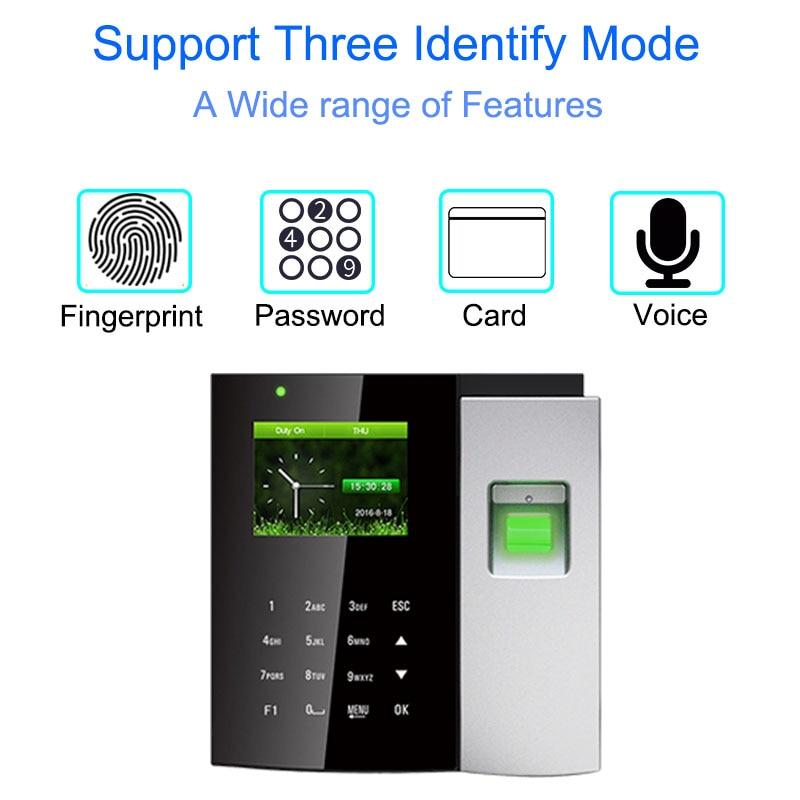 Time Attendance System Biometric Reader TCP/IP USB Fingerprint Access Control Clock Employee Device Office Attendance Machine
