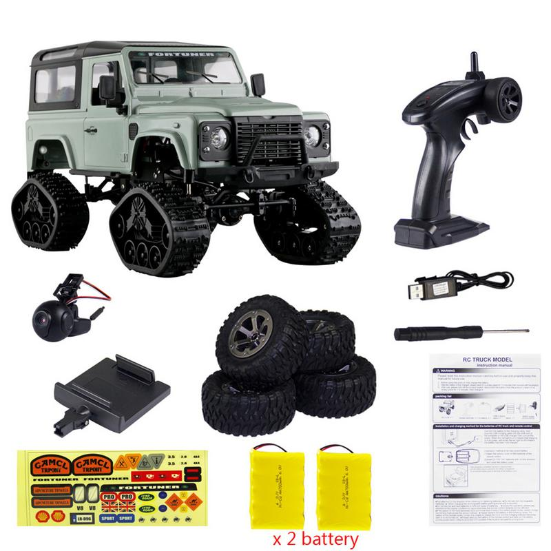 Double Battery 1/16 RC Crawler Landrover Military Truck WiFi HD 720P Camera Car Drive Off Road Off-road Remote Control CarDouble Battery 1/16 RC Crawler Landrover Military Truck WiFi HD 720P Camera Car Drive Off Road Off-road Remote Control Car