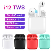 Get more info on the 2019 Original Mini i12 TWS Wireless Bluetooth 5.0 Earphone Touch control 1:1 air pods Headset Sport earbuds PK i10 i14 i15 i18