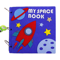 Montessori Early Education Book Kindergarten Children Space Story Book Felt DIY Craft Handmade Feutrine Material Quite Book