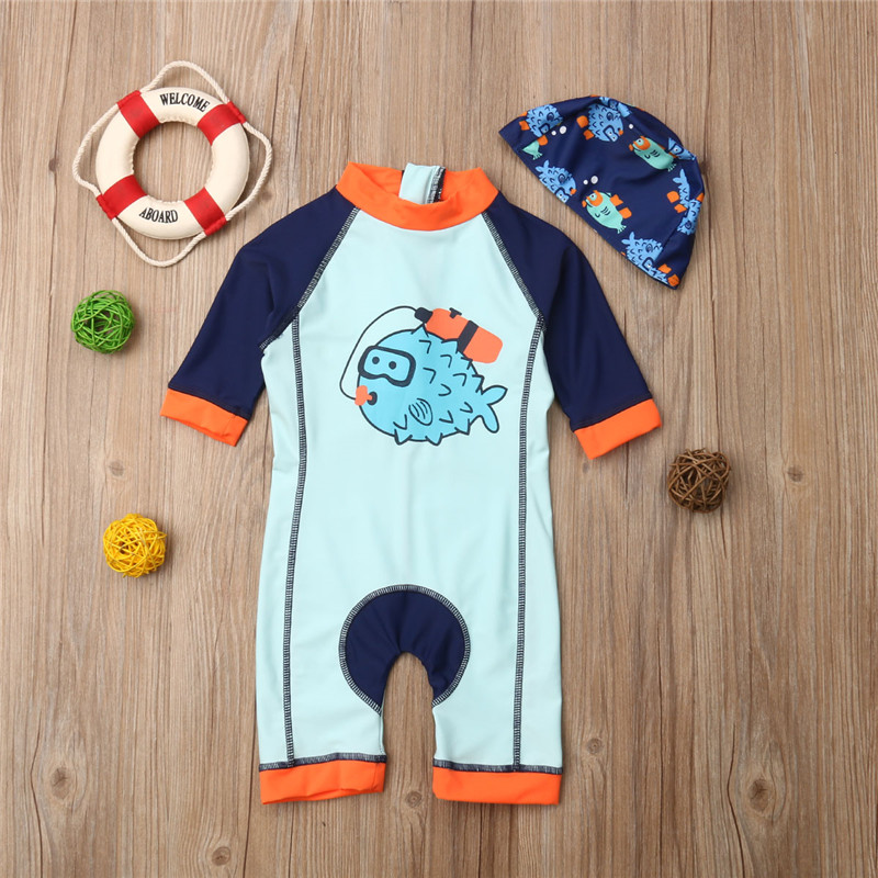 Sun Protection with Snap Buttons Long Sleeve Baby Boys Girls White Rashguard UPF 50