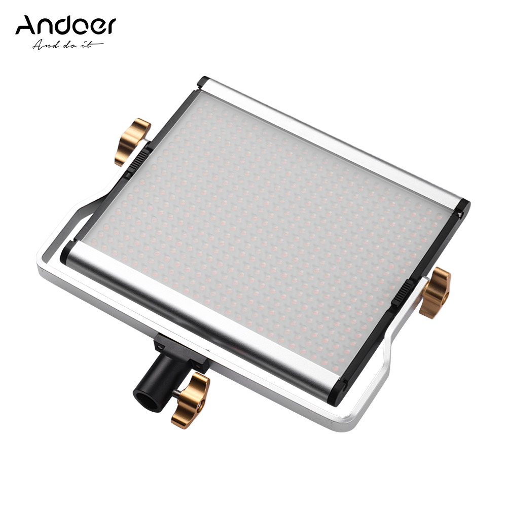 Andoer 29W 3200 5600K 480 LED Beads CRI95 Video Light Portable Panel Fill in Lamp for