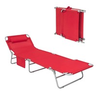 SoBuy® OGS35 Sun Loungers Patio Outdoor Garden Beach Deck Chair Textilene Reclining Folding Adjustable Back Camping Chair