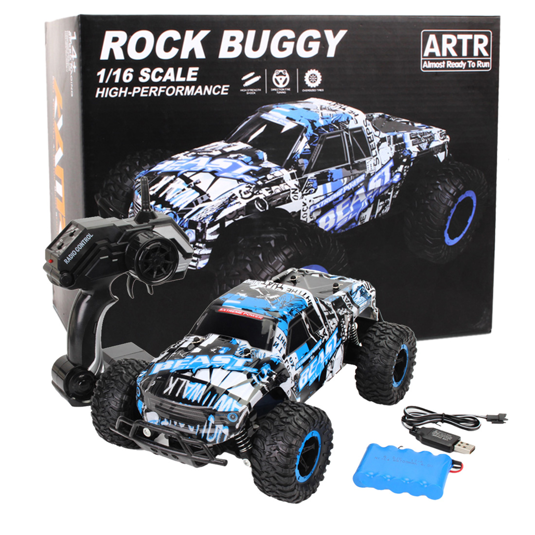 1:16 2.4G véhicule tout-terrain RC Bigfoot voiture escalade voiture pick-up voiture de course pour enfants en plein air jouant RC voiture jouets cadeau d'anniversaire