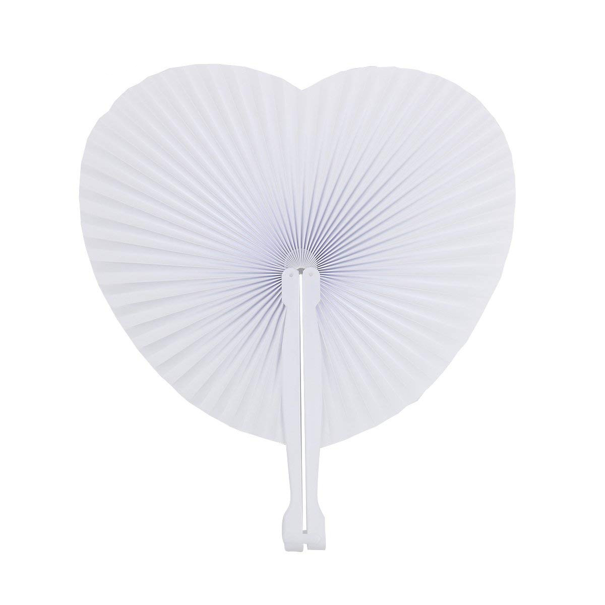 48 pcs Fan White Paper Deco Decoration Wedding Party Gift for the Guests Anniversary Wedding Bapteme DIY Party (Heart)48 pcs Fan White Paper Deco Decoration Wedding Party Gift for the Guests Anniversary Wedding Bapteme DIY Party (Heart)