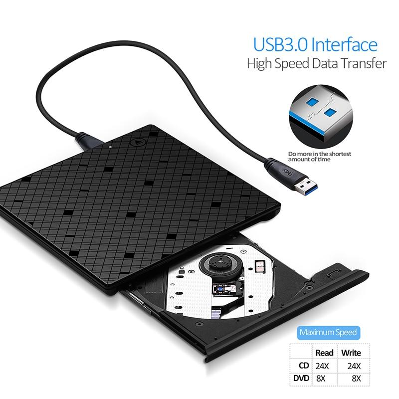 YAHEY USB 3.0 Ultra Slim Portable CD-ROM նվագարկիչ - Համակարգչային բաղադրիչներ - Լուսանկար 2