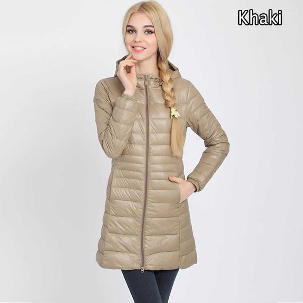 New Fashion Women Casual Hooded Long Sleeve Solid Casual, Party Pocket   Down     Coat   Outwear Regular Fit