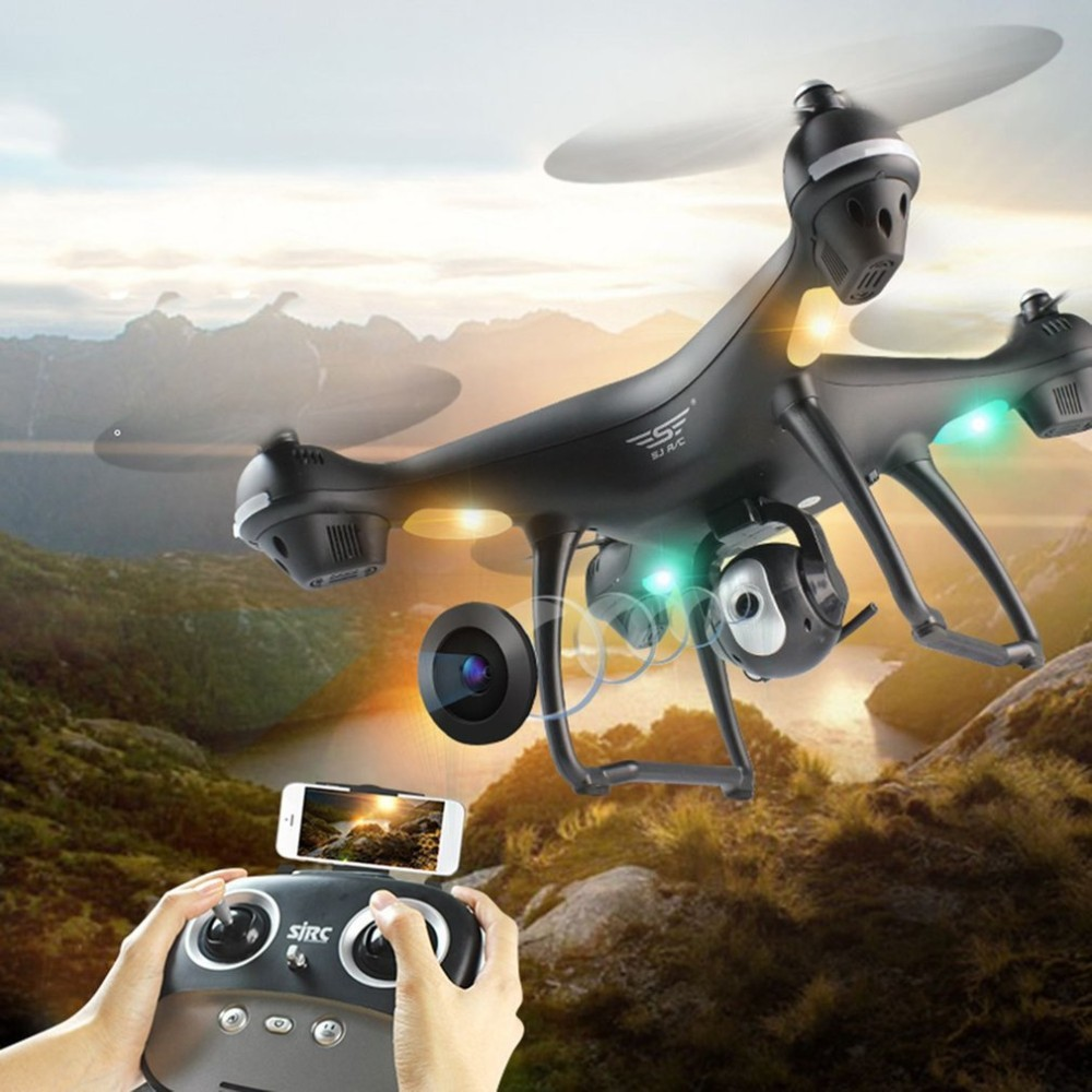 4 Axes S70W Full HD 1080P 90 Degree Wide Angle Dual GPS-2.4GHz WiFi/FPV Drone Quad Copter RC Helicopters Aircraft image