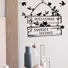 Welcome Sweet Home Door Sign Decoration Wall Decals Decorative Vinyl Wall Stickers For Home