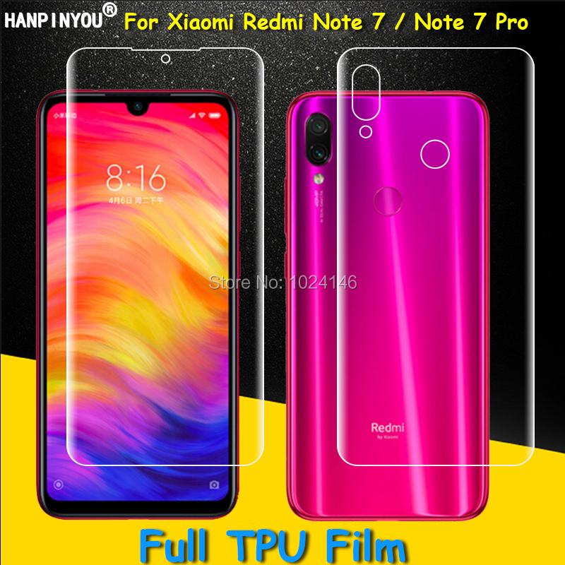 Holsters & Clips Front/back Full Coverage Clear Soft Tpu Film Screen Protector For Xiaomi Redmi Note 7 Pro Cover Curved Parts Cellphones & Telecommunications not Tempered Glass