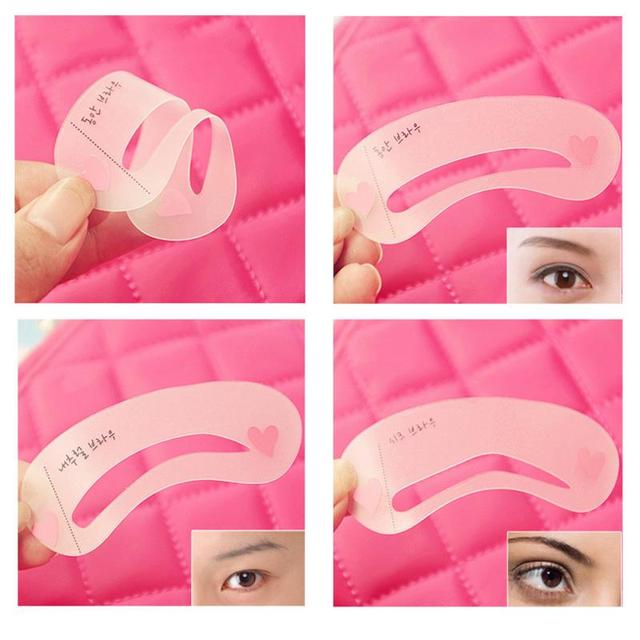 3pcs Simple Eyebrow Mold Guide Card Eyebrow Stencil Shaping Grooming Eye Brow MakeUp Template Reusable Eyebrows Styling Tool #40 3